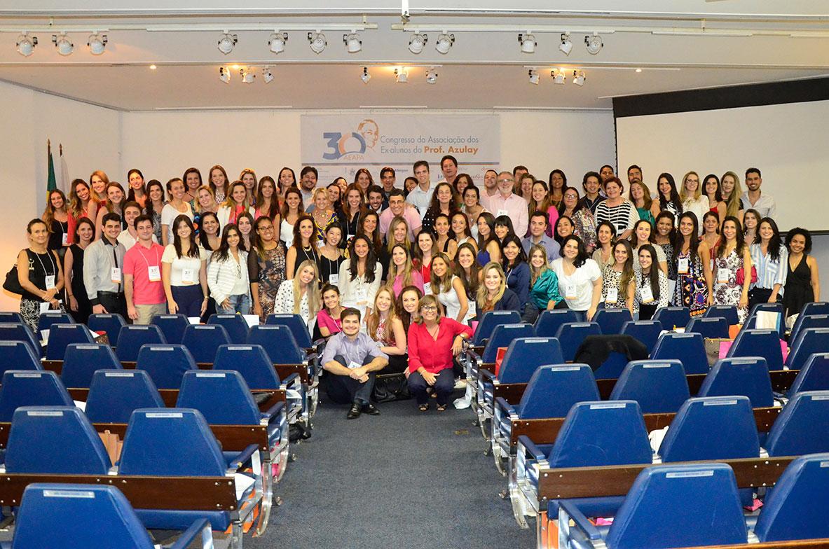 Ex-alunos do Prof. Azulay participantes do Congresso